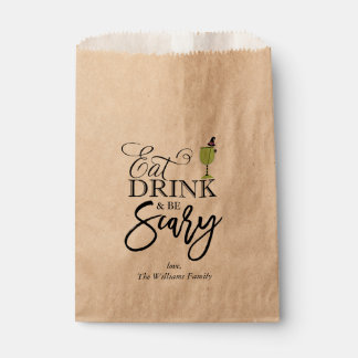 """Eat, Drink and Be Scary"" Halloween Party Favour Bag"