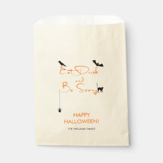 Eat Drink and Be Scary Halloween Treat Favor Bag