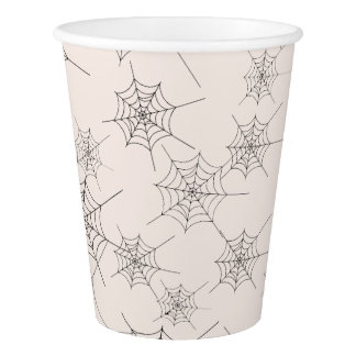 Eat Drink and Be Scary Halloween Web Paper Cup