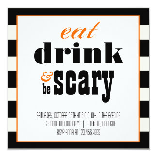 Eat, Drink and Be Scary Party Invitation