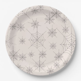 Eat Drink and Be Scary Web Halloween Paper Plates