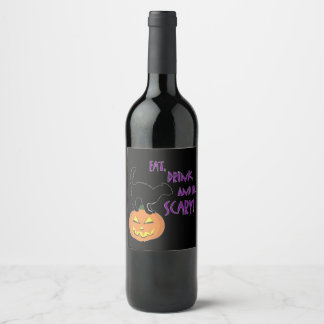 Eat, Drink, and Be Scary! Wine Label