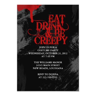 Eat Drink & Be Creepy Card