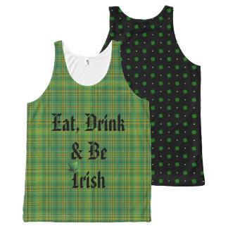 Eat, Drink & be Irish All-Over Print Singlet