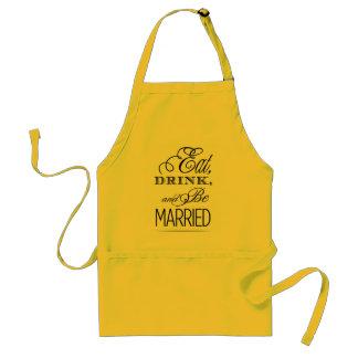 Eat, Drink, Be Married Standard Apron