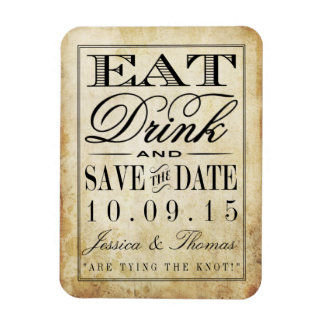Eat, Drink & Be Married Vintage Wedding Magnet