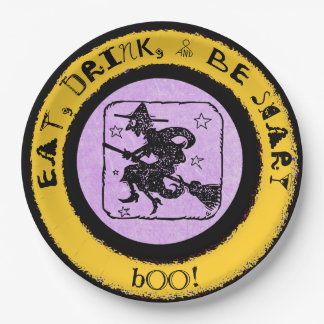 Eat, Drink & Be Scary, Halloween Paper Party Plate