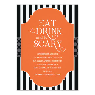 EAT, DRINK & BE SCARY | HALLOWEEN PARTY INVITATION
