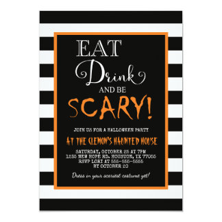 Eat Drink & Be Scary Invitation
