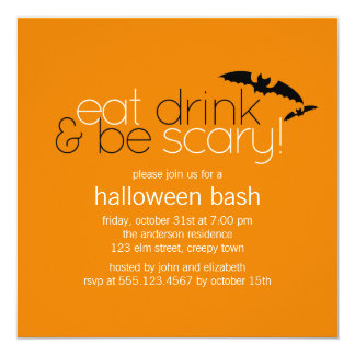 Eat Drink & Be Scary Party Invitations