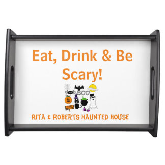 Eat, Drink & Be Scary Tray | Halloween Serving Trays