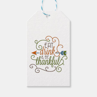 Eat Drink & Be Thankful Gift Hanging Tags