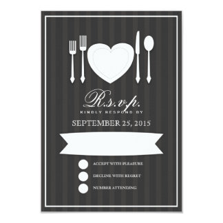 Eat Drink & Get Married RSVP Response Card 9 Cm X 13 Cm Invitation Card