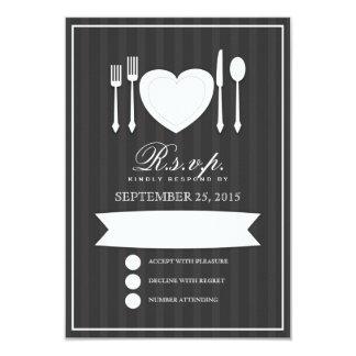 Eat Drink & Get Married RSVP Response Card 9 Cm X 13 Cm Invitation Card