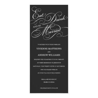EAT, DRINK IN MIDNIGHT BLACK  | WEDDING INVITATION