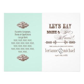 Eat, Drink n Get Married, Formal Wedding Program Flyers