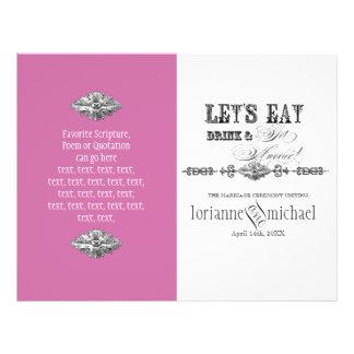Eat, Drink n Get Married, Formal Wedding Program Flyer