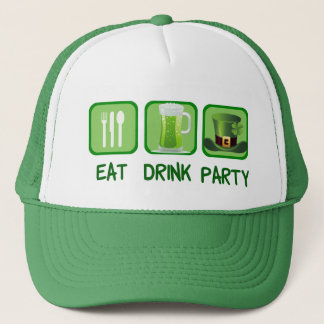 Eat Drink Party Funny St. Patrick's Day Trucker Hat