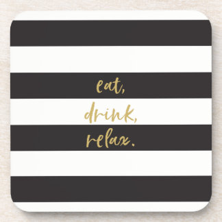 Eat, Drink, Relax Drink Coasters (6)
