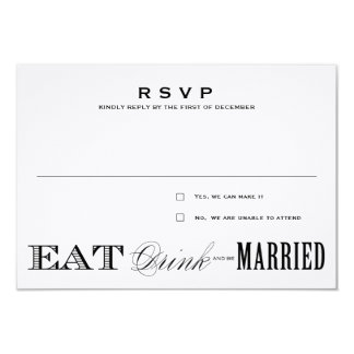 EAT, DRINK | RSVP 3.5 x 5 9 Cm X 13 Cm Invitation Card