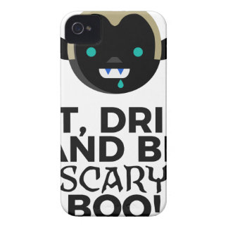 Eat Drink Scary Boo Halloween Design iPhone 4 Case