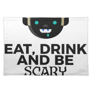 Eat Drink Scary Boo Halloween Design Placemat