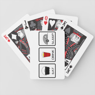 """Eat, Drink, Sleep"" Teardrop Camping Bicycle Playing Cards"