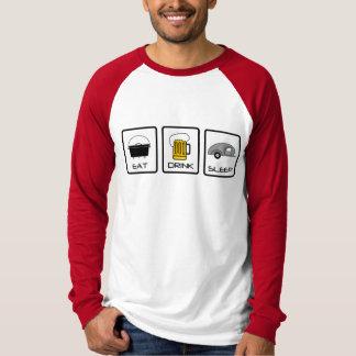 """""""Eat, Drink, Sleep"""" Teardrop Camping Shirt"""