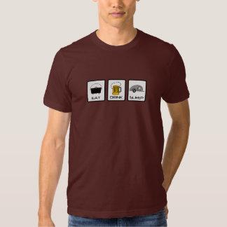 """""""Eat, Drink, Sleep"""" Teardrop Camping Tee Shirt"""