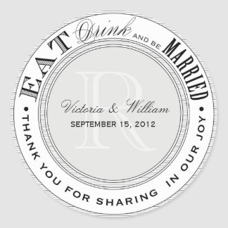 EAT, DRINK | WEDDING FAVOR LABEL