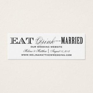 EAT, DRINK   WEDDING WEBSITE CARDS