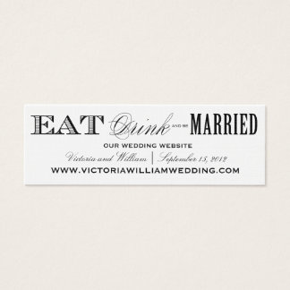 EAT, DRINK | WEDDING WEBSITE CARDS STYLE 2