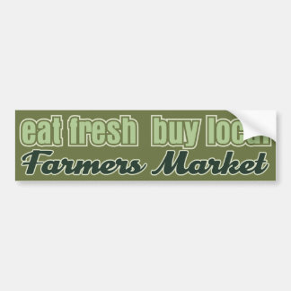 Eat Fresh Farmers Market Bumper Sticker