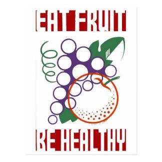 Eat Fruit be Healthy Postcard