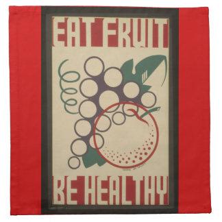 Eat fruit napkin