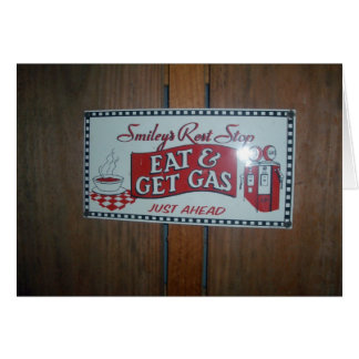 Eat & Get Gas Rest Stop Card