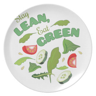 Eat Green Party Plate