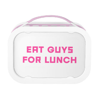 Eat Guys for Lunch Yubo Lunchbox, Pink Lunch Box