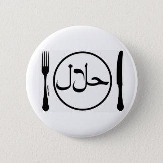 Eat Halal 6 Cm Round Badge