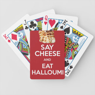 EAT HALLOUMI GREEK CHEESE BICYCLE PLAYING CARDS