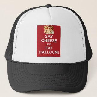 EAT HALLOUMI GREEK CHEESE TRUCKER HAT