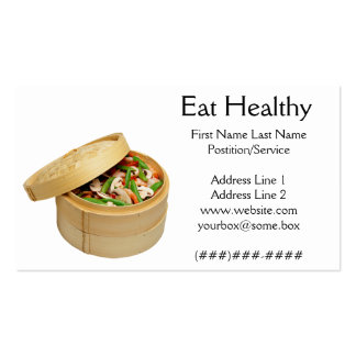 Eat Healthy Business Card Templates