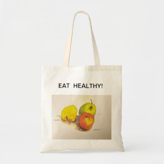 EAT HEALTHY SHOPPING BAG (APPLES)