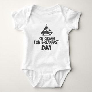 Eat Ice Cream For Breakfast Day - 18th February Baby Bodysuit