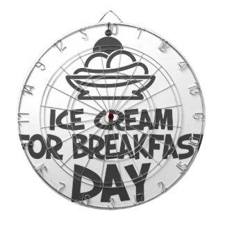 Eat Ice Cream For Breakfast Day - 18th February Dartboard