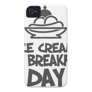 Eat Ice Cream For Breakfast Day - 18th February iPhone 4 Case
