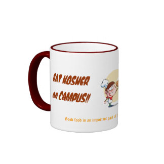 EAT KOSHER on CAMPUS!!  Orthodox College Cup Ringer Coffee Mug