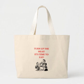 EAT LARGE TOTE BAG