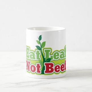 Eat Leaf Not Beef Basic White Mug