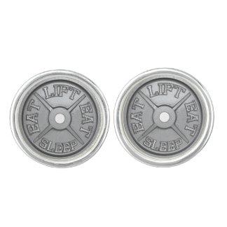 Eat, Lift, Sleep - Barbell Plate Cufflink